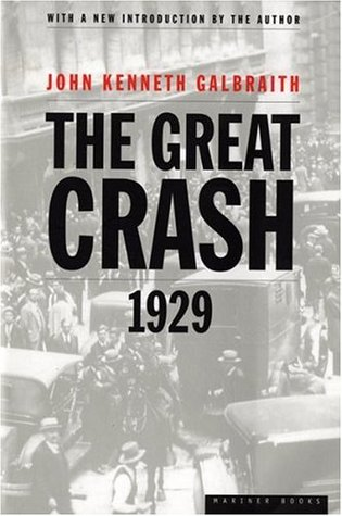 Cover of The Great Crash 1929 by John Kenneth Galbraith.